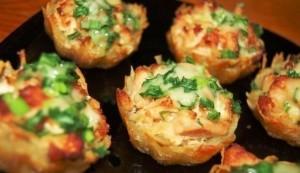 Картофельные тарты с сыром