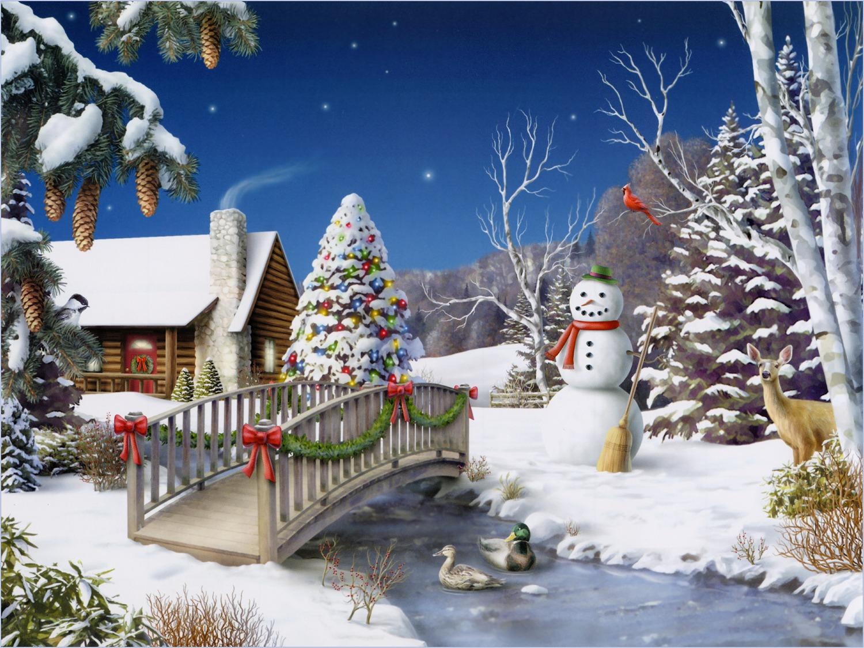 Поздравительные открытки, зимние открытки на новый год