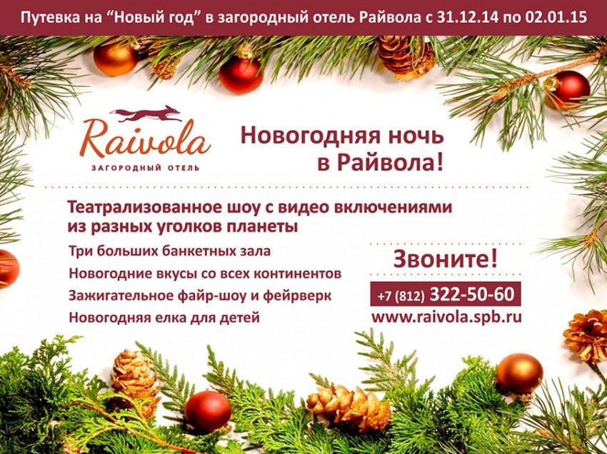 Международный Новый год в Райвола!