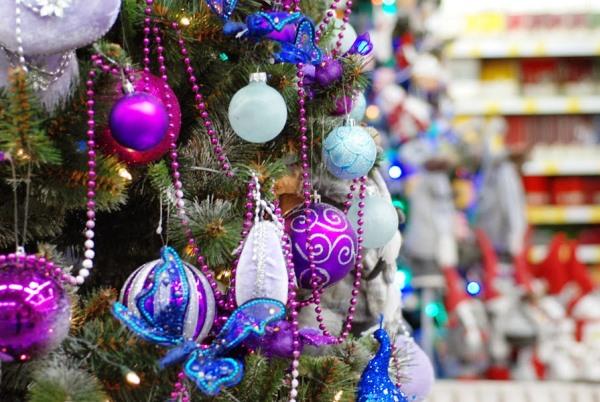 Новый 2017 год идеи украшения новогодней ёлки3