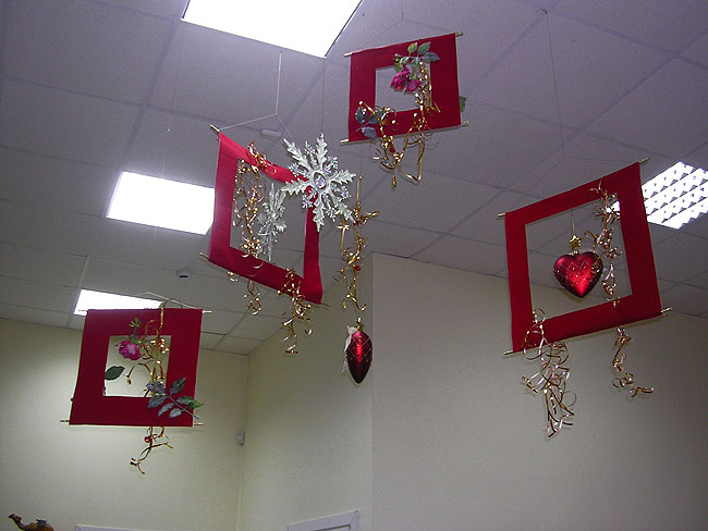 Новогоднее украшение офиса идеи и правила1