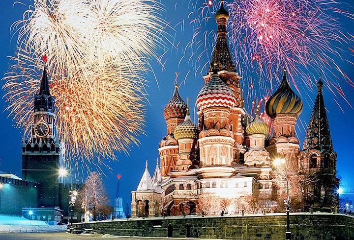 Новый 2018 год в сердце российской столицы – Москвы.