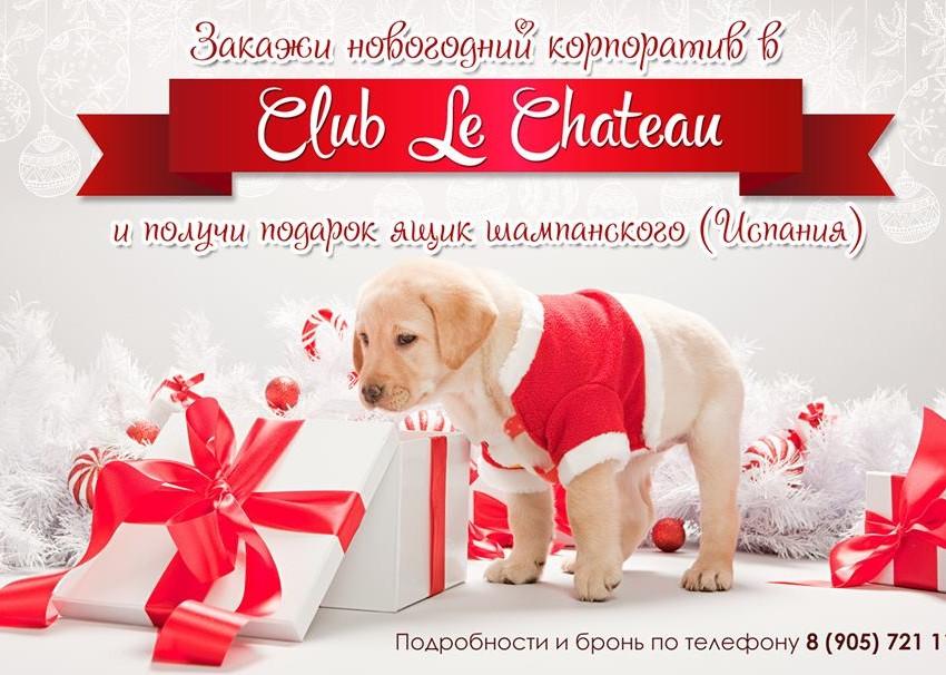 Выгодный новогодний корпоратив в Club Le Chateau!