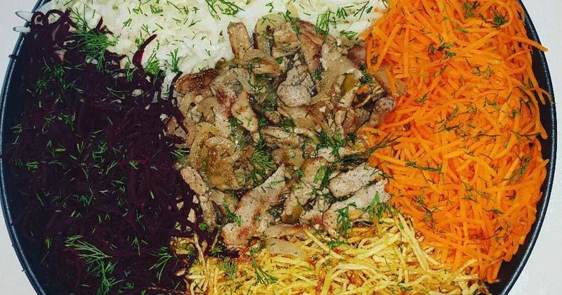 Тёплый салат «Чафан» на Новый год