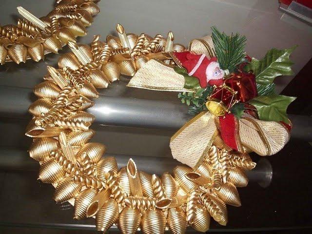 Новогодние игрушки своими руками фото из макарон