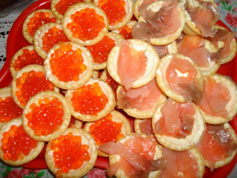 Рецепты тарталеток с красной рыбой фото