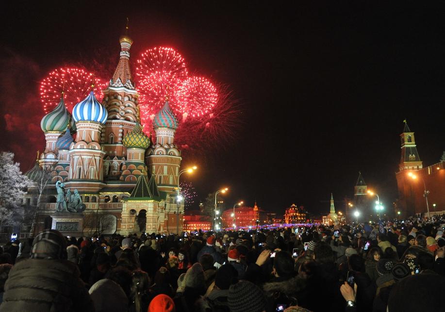 Красная площадь Новый год 2017